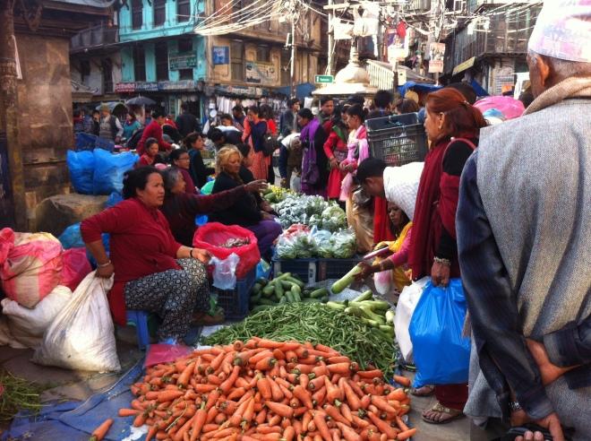 Credit: Kristie Daniel, Market in Thamel, Nepal